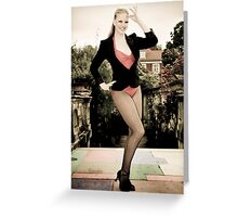 Gorgeous dancer in berliscue color treatment Greeting Card