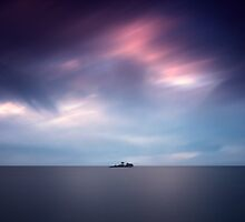 Island at dusk by yurybird