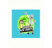 Rick and Morty vs The World Art Print
