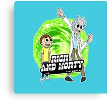 Rick and Morty vs The World Canvas Print