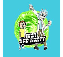 Rick and Morty vs The World Photographic Print