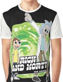 Rick and Morty vs The World Graphic T-Shirt