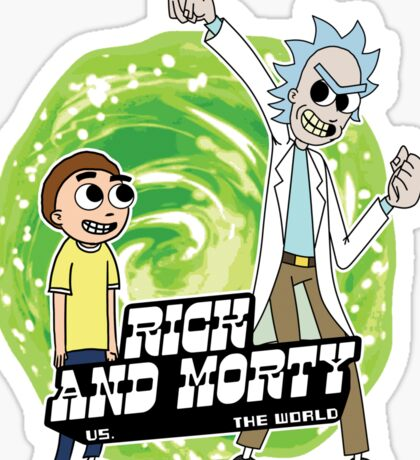 Rick and Morty vs The World Sticker