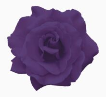 Single Large High Resolution Purple Rose Kids Tee