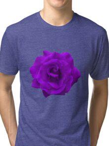 Single Large High Resolution Purple Rose Tri-blend T-Shirt