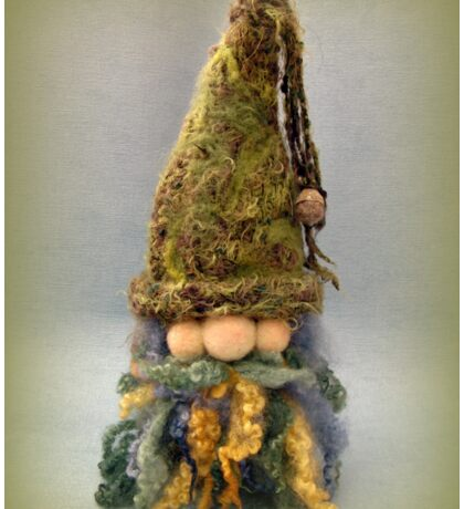 Handmade needle felted creation from Teddy Bear Orphans - Gnathan Gnome Sticker