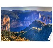 Pierces Pass - Blue Mountains World Heritage Area - The HDR Experience Poster