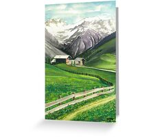 HOLIDAY IN AROSA Greeting Card