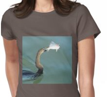 Cormorant hunting Womens Fitted T-Shirt