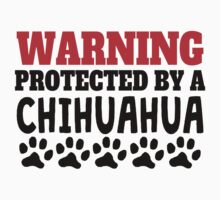 Protected By A Chihuahua Kids Tee