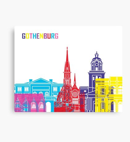Gothenburg skyline pop Canvas Print