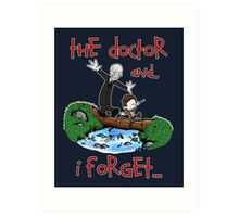 Calvin and Hobbes Doctor Art Print
