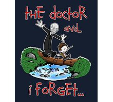 Calvin and Hobbes Doctor Photographic Print