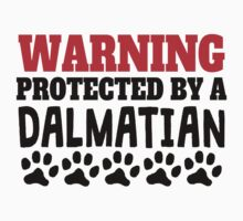 Protected By A Dalmatian Baby Tee