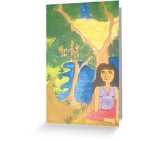 Lonely Girl Greeting Card