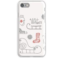 Freehand drawing Winter holiday iPhone Case/Skin