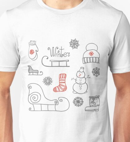 Freehand drawing Winter holiday Unisex T-Shirt