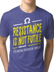 Resistance is not futile Tri-blend T-Shirt