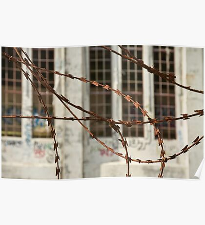 Protected by Razor Wire Poster
