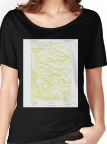 USGS Topo Map Washington State WA Willy Dick Canyon 244717 1957 24000 Women's Relaxed Fit T-Shirt