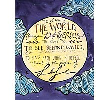 Walter Mitty Quote Photographic Print