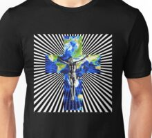 Climate Change Cube Earth Op Art Pop Jesus Unisex T-Shirt