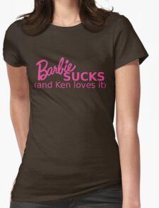 Barbie Sucks! Womens Fitted T-Shirt