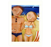 Greetings From Sea Art Print