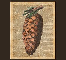 Pine Cone Vintage Dictionary Book Page Artwork  Unisex T-Shirt