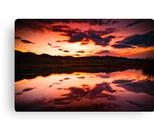 A Foothills Sunset Canvas Print