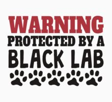 Protected By A Black Lab Kids Tee