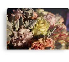 Pastel colours bouquet. Metal Print