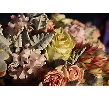 Pastel colours bouquet. Photographic Print