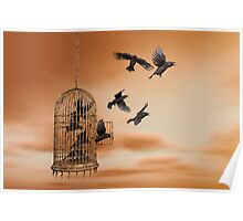 Freedom - Spread Your Wings and Fly Away Poster
