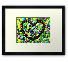 Jelly hearts  Framed Print
