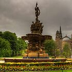 Fountain and Church by Tom Gomez