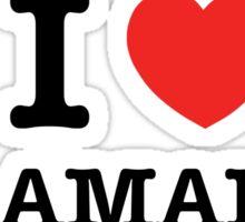 I Love SALAMANCA Sticker