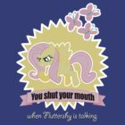 Fluttershy  - You Shut your Mouth !!! by SkyStar