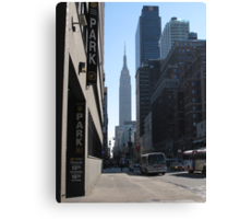 Unknown Street with a World Famous Backdrop Canvas Print
