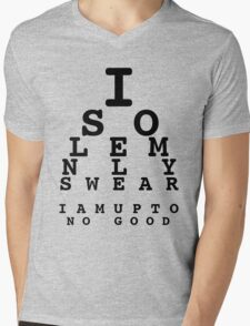 Marauders' Eye Chart Mens V-Neck T-Shirt