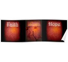 Faith Love Hope Poster