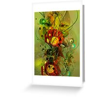 Abstract Digital Art-Dynamic Abstract Shapes And Lines Greeting Card