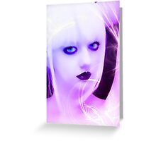 Violet Woman Greeting Card