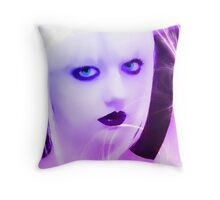Violet Woman Throw Pillow