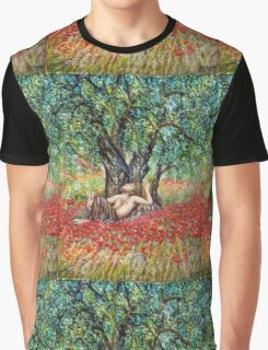 PAN, OLIVE TREE AND POPPY FIELDS Graphic T-Shirt