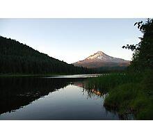 Mt. Hood Sunset Reflection Photographic Print