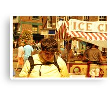The devastation at not having enough money for an ice cream,kicks in Canvas Print