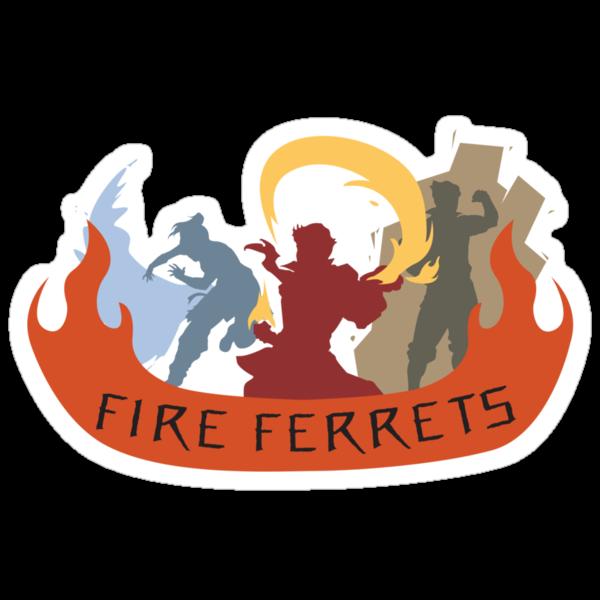 Fire Ferrets Trio - English by shwabadi