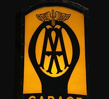 Vintage Garage Sign iPhone Case by simpsonvisuals