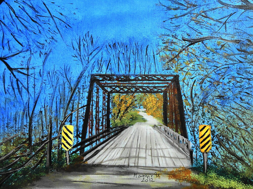 Old wooden bridge by maggie326